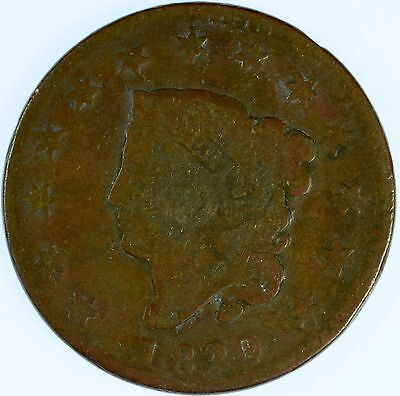 1820 Coronet Head Copper US Large Cent Circulated