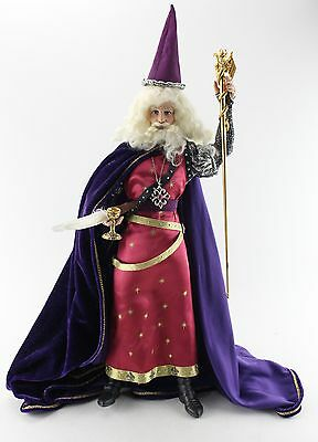 THE FRANKLIN MINT Merlin Multi-Color Wizard Collectible Doll