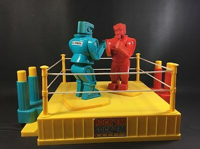 Mattel Rock 'Em Sock 'Em Robots Game with Box Classic Dave & Busters Fighter EX