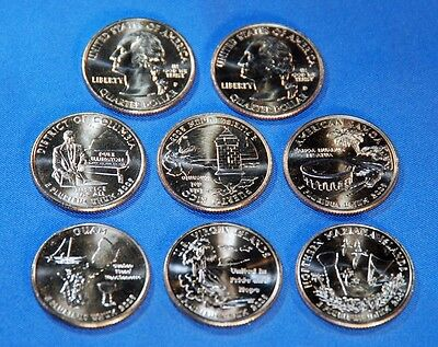 2009 P&D DC & U.S. Territories Quarter 12 Coin Set