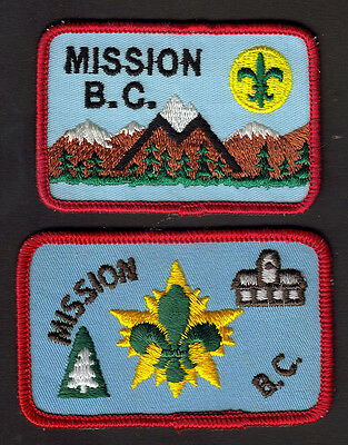 Boy Scouts Canada (2) Mission, British Columbia B.c. Region Embroidered Patches