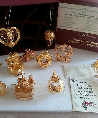 The Dambury mint gold Christmas ornaments collection