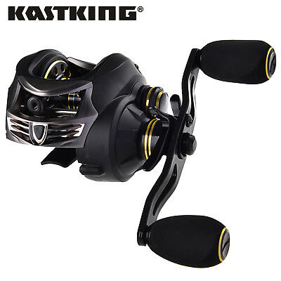 KastKing Stealth Baitcasting Reel Dual Brakes All Carbon Baitcaster Fishing Reel