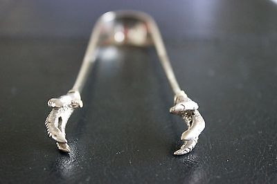 Vintage William Page & Co Silver plate Sugar Tongs with bird claws