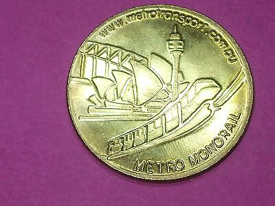 Sydney Metro Monorail Souvenir Token Rare And Very Hard To Find