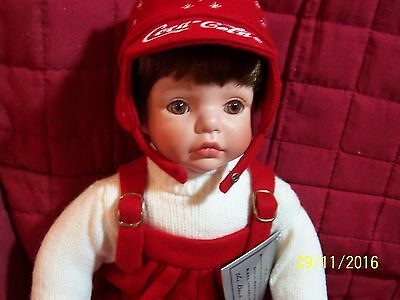 Coca Cola Collector doll, Christopher, Danbury Mint 2003 by Susan Wakeen