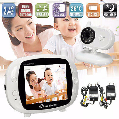 3.5'' LCD Baby Pet Monitor Camera 2.4G Wireless Digital Audio Video Security AU