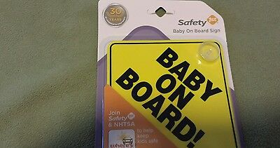 Sealed, never opened Safety 1st baby on board sign for vehicle windows.