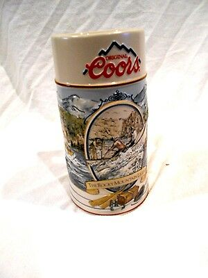 """1992 Coors Beer Stein-The Rocky Mountain Legend 7"""" Limited Edition #8110"""