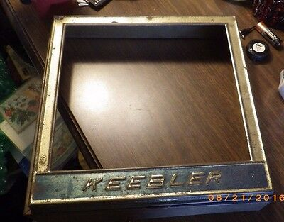 Antique Keebler Baking Company Metal General Store Display Lid, Tindeco 1924