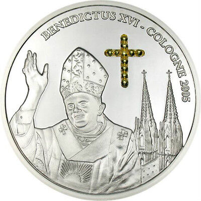 Congo 2005 Benedict 10 Francs Silver Coin,Proof