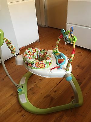Fisher And Price Rainforest Space Saver Jumperoo. RRP $129