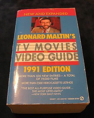 Tv Movies Video Guide 1991 Edition By Leonard Maltin's / 1330 Pages