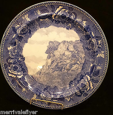 Antique WEDGWOOD Old Man of the Mountain Plate NEW HAMPSHIRE NH Jones McDuffee
