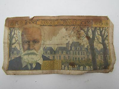Old France 5 Francs Banknote 1964