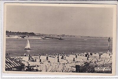Vintage 1957 Postcard The Ferry, Beach, Hayling Island, Hampshire