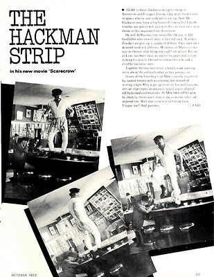The Gene Hackman Strip In His New Movie Scarecrow Article & Picture(S)