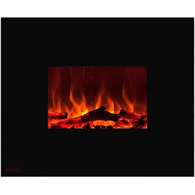 Ignis Royal 36 inch Wall Mounted Electric Fireplace with Logs