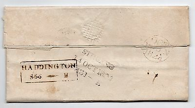 1824 Full entire letter with Haddington & Stirling mileage marks on reverse.