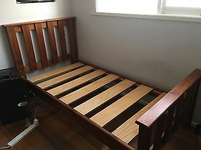 Single Wooden Bed Frame And Mattress