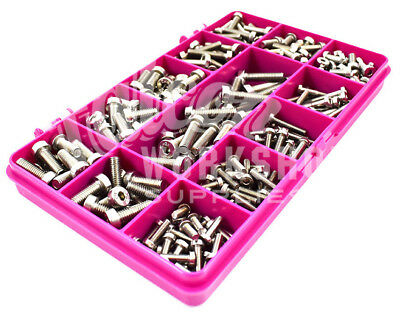 270 Assorted A2 Stainless M3 M4 M5 Low Head Socket Caps Bolt Screw Allen Key Kit