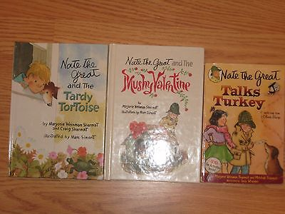 Lot of 3:  Nate the Great by Majorie Weinman Sharmat mixed BOOKS