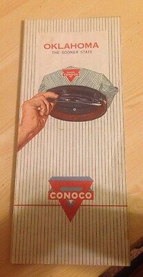Oklahoma  ( The Sooner State) Conoco Road Map 1962