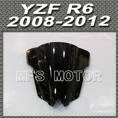 Black Windshield / Windscreen for Yamaha YZFR6 YZF-R6 2008 2009 2010 2011-2014