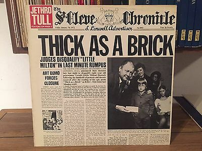 Jethro Tull - Thick As A Brick Lp