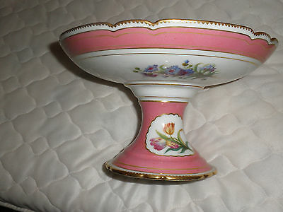 China Raised Bowl In Top Cond With Beautiful Handpainted Decoration