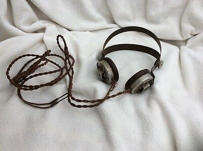Antique Bakelite BBC headphones - T.M.C TMC