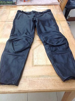 Hein Gericke black leather motorcycle trousers size