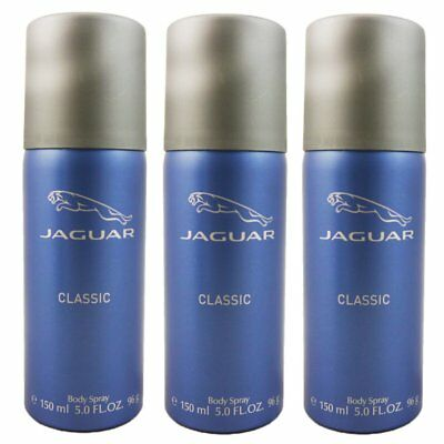 Jaguar Classic 3 x 150 ml Body Spray Deo Spray Bodyspray Set