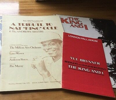 Vintage Nat King Cole King And I Musical Books