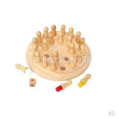 2x Classic Wooden Memory Chess Puzzle Game Parent-child Developmental Toy Gift