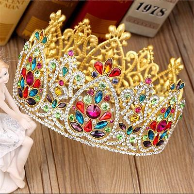 9cm High Large Crystal Wedding Bridal Party Pageant Prom Tiara Crown Headband