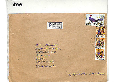 RR119 1982 ZAMBIA REGISTERED 'Chachacha' R Label Devon England: Samwells-Covers