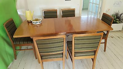 Vintage Retro Alfred Cox for Heals extending Dining table & 6 chairs