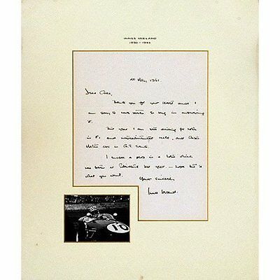 Signed Letter - Innes Ireland, Hand written letter on Innes' embossed letterhead