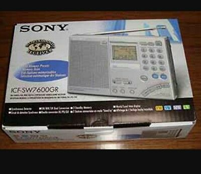 sony icf-sw7600gr shortwave hf ssb receiver mint condition