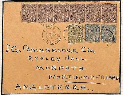 H3 1897 Monaco Northumberland GB Cover {samwells-covers}PTS