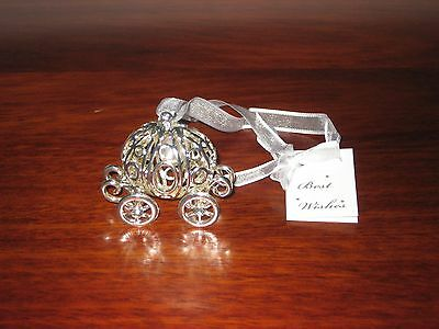 Wedding Bridal Coach Good Luck Charm Silver Keepsake