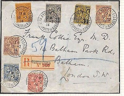 H48 1914 Monte Carlo Monaco London GB Cover {samwells-covers}PTS