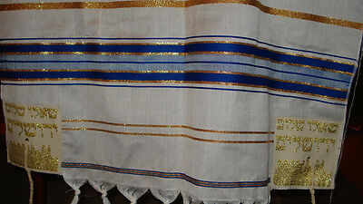 "Prayer Shawl, 23""x70"" Made in Isreal, New"