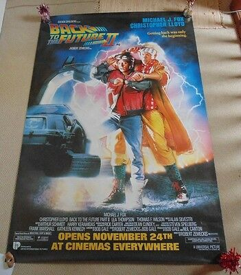 Back To The Future 2 Huge 40 X 60 Inch Rolled Original Cinema Poster 1989