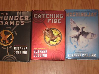 LOT 3 THE HUNGER GAMES Trilogy Books #1-3 COMPLETE SUZANNE COLLINS Hardcover