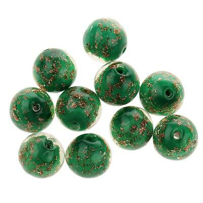 Phenovo 10x 12mm Lampwork Flower Loose Beads For Jewelry Making