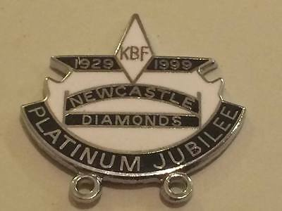 Newcastle Diamonds---1999---Speedway Badge---Silver Metal