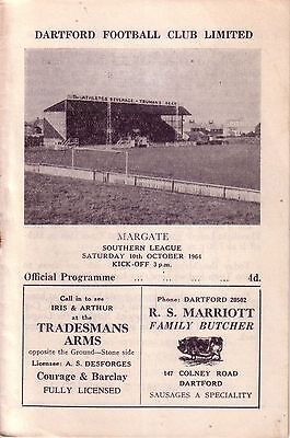 DARTFORD v MARGATE 1964/65 SOUTHERN LEAGUE