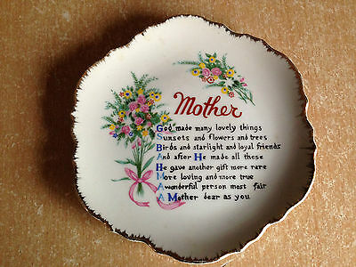 Mother!  -  Delightful  Decorative  Plate  With  Dedication  To  'mother!'